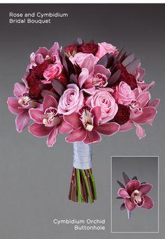 Vera Wang Rose and Cymbidium Bridal Bouquet