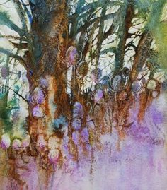 'Spring Teasel in the wood' by Ann Blockley - from Experimental landscapes in watercolour book