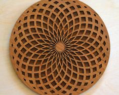 Tube Torus Fade Wood Wall Art - Wooden Living Room Home Decor Meditation Circular Sacred Geometry Laser Cut Hanging Yoga Studio Design, Finished Plywood, Seed Of Life, Wooden Hangers, Rooms Home Decor, Hanging Wall Art, Yoga Inspiration, Sacred Geometry, Wood Wall Art