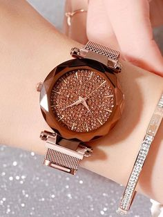 Full of Star Magnet Strap Womens' Watch Elegant Watches, Stylish Watches, Beautiful Watches, Cool Watches, Watches For Men, Luxury Watches, Titanium Watches, High End Watches, Silver Pocket Watch