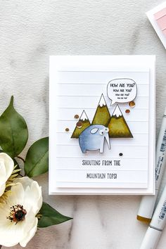 Simon Says Stamp   Shouting From The Mountain Tops Funny Friendship Cards by Yana Smakula #cardmaking #sssfriends #simonsaysstamp #stamping #handmadecard