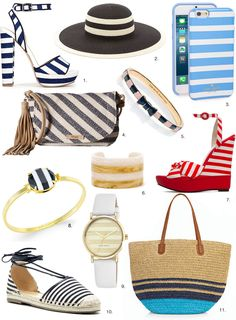fe6a853965c Shop Striped Accessories for spring 2016 with Los Angeles fashion blogger Sydne  Summer. Purses