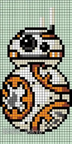 Hi, kyan! We found some Perler Beads and Bead Patterns Pins and boards for you! - Hi, kyan! We found some Perler Beads and Bead Patterns Pins and boards for you! Pixel Art Star Wars, Star Wars Bb8, Crochet Pixel, Star Wars Crochet, C2c Crochet, Blanket Crochet, Crochet Crafts, Cross Stitching, Cross Stitch Embroidery