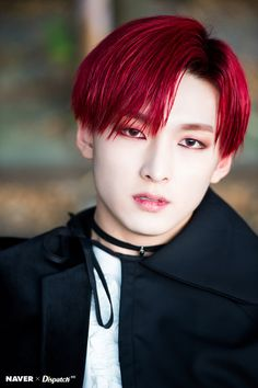 Naver x Dispatch Update with - Red Hair Korean, K Pop, Red Hair Boy, Pop Hair, Rapper, Vampire Boy, Chani Sf9, Peinados Pin Up, Kpop Guys