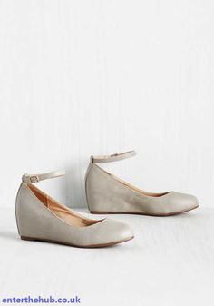 40f4b895210215 Trendy In Womens Take A Stride With Me Wedge Pebble Shoes Modcloth Shoes