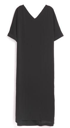 Black Chiffon V Neck Split Cool Maxi Dress - Sheinside.com