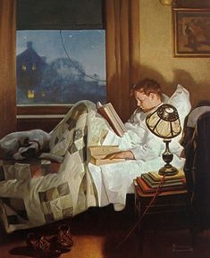 Crackers in Bed by Norman Rockwell (American, 1894-1978)