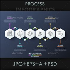 Modern Infographic Process Template PSD, Vector EPS, AI Illustrator