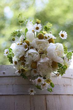 Peony and Daisy Bridal Bouquet