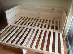 Diy Pull Out Sofa Bed - You can also hide a bed under a sofa or a bench like in the case of. Its so that a pull out bed could fit underneath the platform. Diy Furniture I Mob. Fold Out Beds, Folding Beds, Folding Bed Frame, Diy Sofa, Banquette Palette, Build Your Own Sofa, Futon Design, Pull Out Sofa Bed, Camper Beds