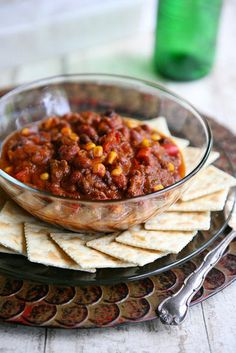 Back to Basics: This Everything Chili doesn't claim to be authentic, but it does boast a long list of flavorful Mexican ingredients.  Source: Eclectic Recipes