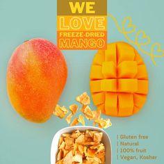 Freeze Dried Fruit, Freeze Drying, Mango, Frozen, Tropical, Food, Manga, Meals, Yemek