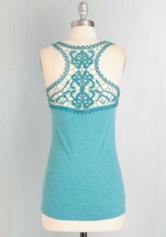 Poet to Be True Top in Teal. You know theres nothing so blissful as wearing this teal-blue top and filling your notebook with inspired verse. #blue #modcloth