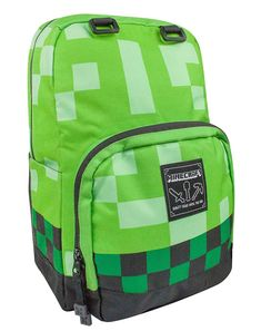 Minecraft Backpack School bag Boys Green Creeper Rucksack Sports Bag-NEW Minecraft Party, School Bags For Kids, Kids Bags, Kids Backpacks, School Backpacks, Childrens Luggage, Green School, Craft Bags