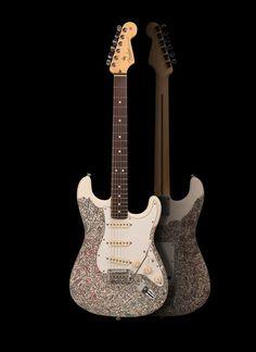 CONNEXION – Tanguy Bertocchi Fender Stratocaster calamart galerie urbaine galerie d'art contemporain à Genève