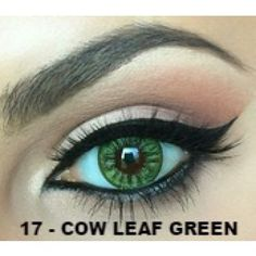 LEAF GREEN Contact lenses Colours of the Wind - 1 Year (Pair) #bestcontactlenses #awesomecontactlenses #leafgreen