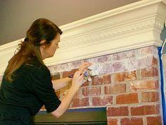 How to Whitewash Brick-LOVE IT!!!