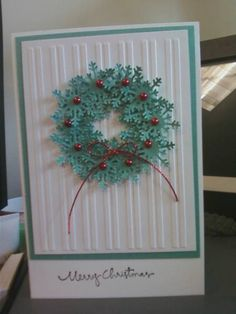Snowflake Wreath   different colors