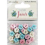 Dovecraft Couture Du Jour Plastic Buttons