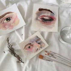 Shared by Vogue. Find images and videos about eyes, drawing and paint on We Heart It - the app to get lost in what you l Art Hoe Aesthetic, Pink Aesthetic, Aesthetic Eyes, Art Sketches, Art Drawings, Arte Sketchbook, Pink Themes, Art Music, Diy Art