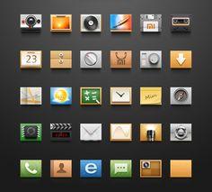 Android Icons by Sanadas young Icon Design, Web Design, Graphic Design, Android Icons, Png Icons, Simple Icon, Pictogram, Kiosk, Icon Set