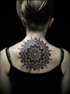 Tattoo Ivan Hack - tattoo's photo In the style Ornamental, Ornamen Mandalas Painting, Mandalas Drawing, Dream Tattoos, Girl Tattoos, Back Tattoo, I Tattoo, Goddess Tattoo, Sacred Geometry Tattoo, Tattoo Illustration