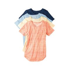 of Versatile Tees in Women's Shop with your Avon Representative online Avon Fashion, Fashion Online, Womens Fashion, Jewellery Shop Near Me, Gold Jewellery, Jewelry, Colorful Fashion, Blue Stripes, Clothes For Women
