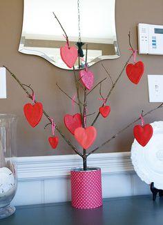 Cute heart tree