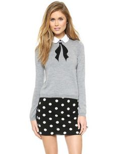ALICE + OLIVIA Ribbon Bow Sweater