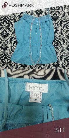 Kirra- Gorgeous silk blend blouse Silk & cotton blend. Worn only once for a couple of hours. Like new! Perfect condition. The tags says medium but it runs small for its size. I would definitely call this a small :)  (BOGO on everything in my closet for summer clearance sale) Kirra Tops Blouses