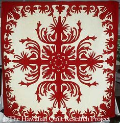 The Quilt Index xx quilt Hawaiian red white solids xx