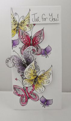 Polka Doodles Fairy Flutterby stamps, coloured with Pan Pastels.  Blog: Lulu and Cardmaking