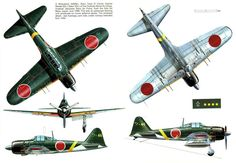 ZERO ~ Mitsubishi A6M5 Zero ~ BFD A6M5 Zeke 52 5view-960