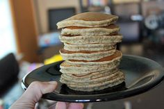 The How-Many-Healthy-Things-Can-I-Get-Into-a-Pancake (and still have my kids love them) Pancakes…   http://greenlitebites.com/2014/05/27/healthy-pancakes/   And they did too! :)