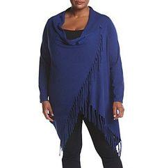 Chelsea & Theodore® Plus Size Fringe Trim Sweater