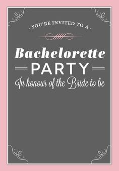 18 Best Free Bachelorette Party Invites Images Bachelorette Party