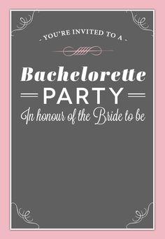 #Bachelorette Party #Invitation - Free Printable