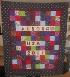 USA quilt made for an exchange student from Spain. (front)