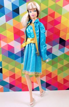 Barbie Blue Dress with Ken's #1435 Shore Lines Jacket