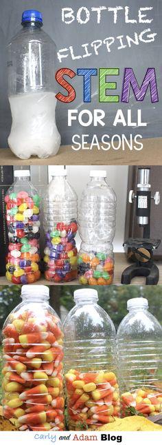 Bottle Flipping STEM for all Seasons