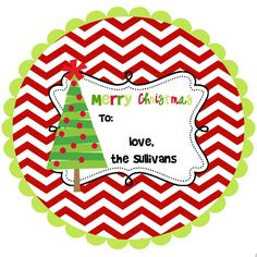 Christmas Stickers Labels  personalized-chevron by stickerchic