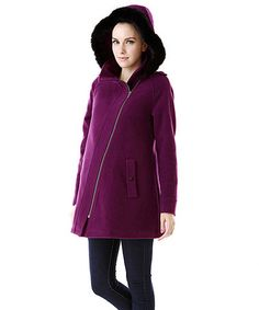 Look what I found on #zulily! Amethyst Kelsey Wool-Blend Maternity Coat by MOMO Maternity #zulilyfinds