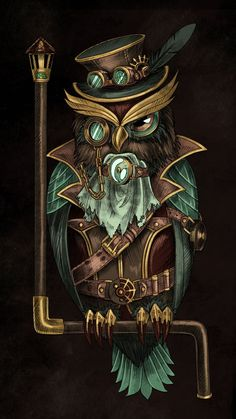 Who who mother f**ker. Owl Wallpaper Iphone, Cute Owls Wallpaper, Buho Tattoo, Tattoo Owl, Steampunk Wallpaper, Arte Steampunk, Steampunk Drawing, Steampunk Animals, Owl Artwork