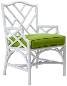 Chippendale Outdoor Arm Chair from www.wellappointedhouse.com