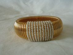 napier bangle vintage snake chain seed by qualityvintagejewels, $85.00