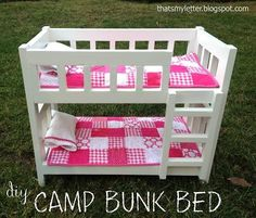 DIY Furniture : DIY Camp Style Bunk Beds for American Girl or 18 Dolls