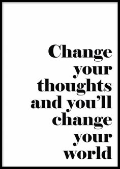 Motivational posters and prints. Poster with quote, Change your thoughts and…