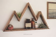 Check out this Mountain Wall Art, Shelf, Mountain Home Decor, wall hanging, wall shelf, reclaimed wood, statement piece, modern, industrial, rustic, by BourbonMoth on Etsy www.etsy.com/…  The post  Mountain Wall Art, Shelf, Mountain Home Decor, wall hanging, wall shelf, reclaim…  ..
