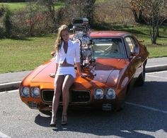 ( 2016 ) - HOT ROD Pontiac '70 GTO Pro Street Pro Street Double blown 474 and THE BEAUTIFUL PIN-UP GIRL 2016.