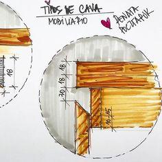 ESTAMOS PRODUZINDO UM MATERIAL que vai AJUDAR VOCÊ! Booom Diiiaaaa SEXTA!!!!!! Como é bom entender aquilo que a gente projeta né?! Quais as… Drawing Furniture, Furniture Design, Architect Sketchbook, Wardrobe Door Handles, Stone Wall Design, Carpentry And Joinery, Wardrobe Door Designs, Kitchen Drawing, Joinery Details